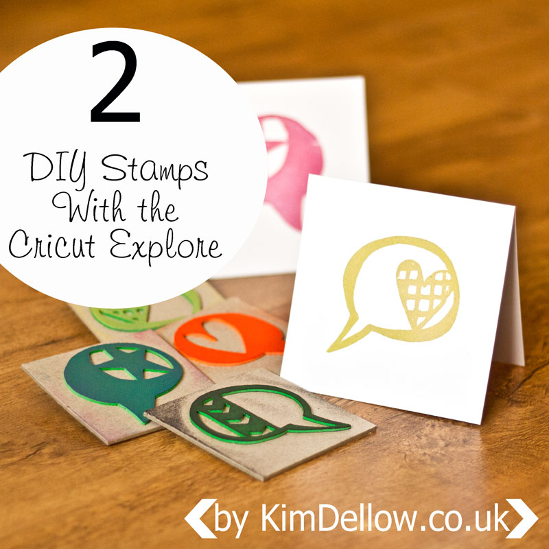 DIY Stamps with the Cricut Explore