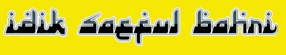 IDIK SAEFUL BAHRI