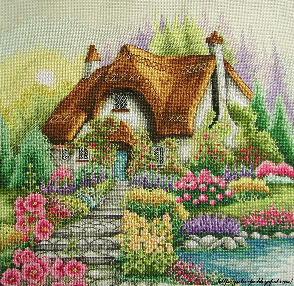 Lakeside cottage, Anchor PCE922, Коттедж, Вышивка крестом