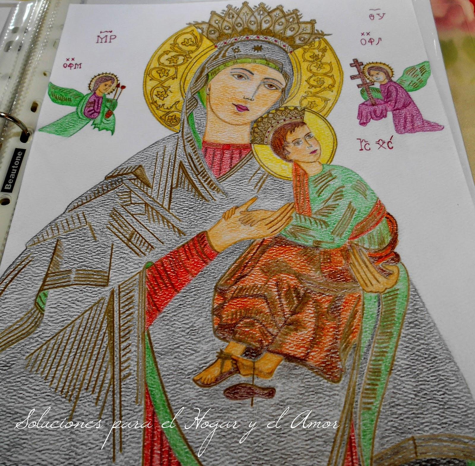 Mis Lápices y Dibujos, María del Perpetuo Socorro, imagen religiosa, Icono religioso