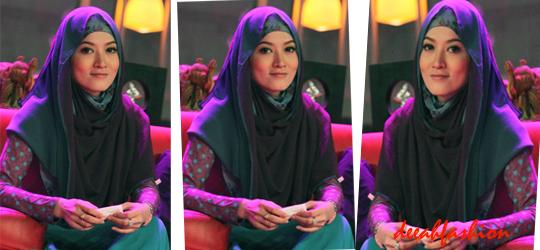 Jilbab Besar Dua Warna Trend Jilbab Lebaran 2014