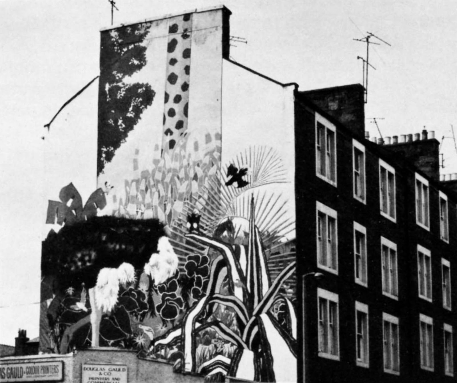 Retro dundee wolseley street mural 1970 39 s for Telephone mural 1970