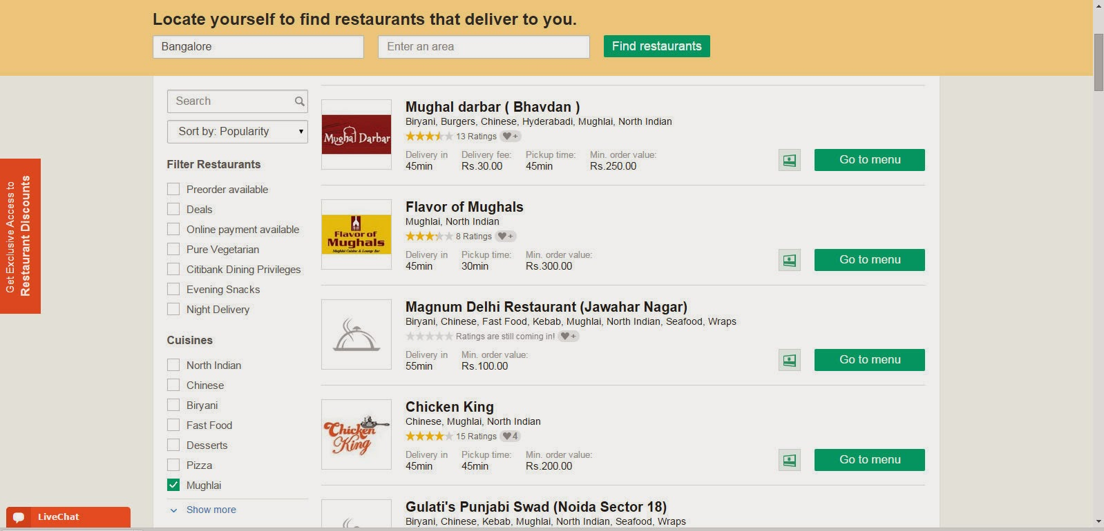 A taste of Online food delivery with Foodpanda