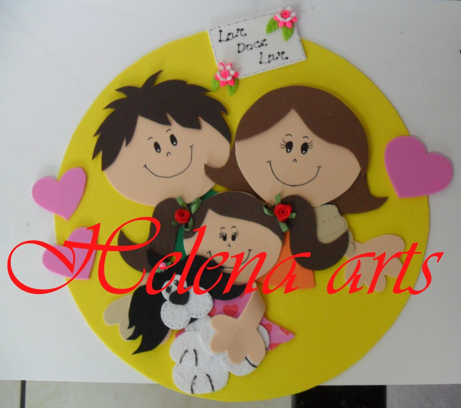 Helena arts placa fam lia feliz for Manualidades en familia
