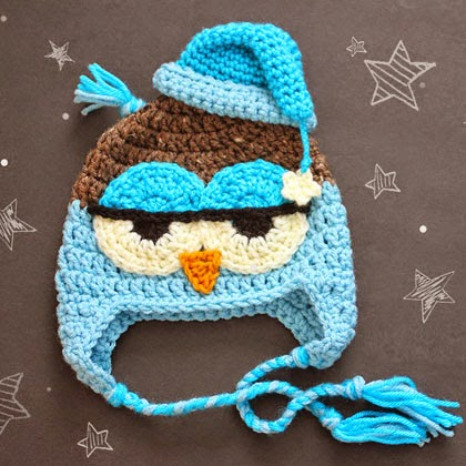 Crochet Drowsy Owl Hat Pattern