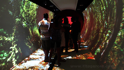 Visitantes conhecem o túnel do Nossos Leitos, no Museu da Gente Sergipana, em Aracaju - Sergipe