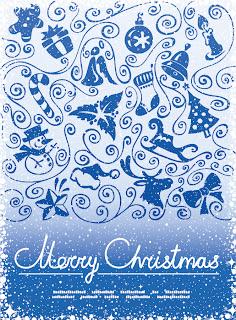 雪景色のクリスマスの背景 PATTERNS, SNOW-POINT FRAME VECTOR イラスト素材