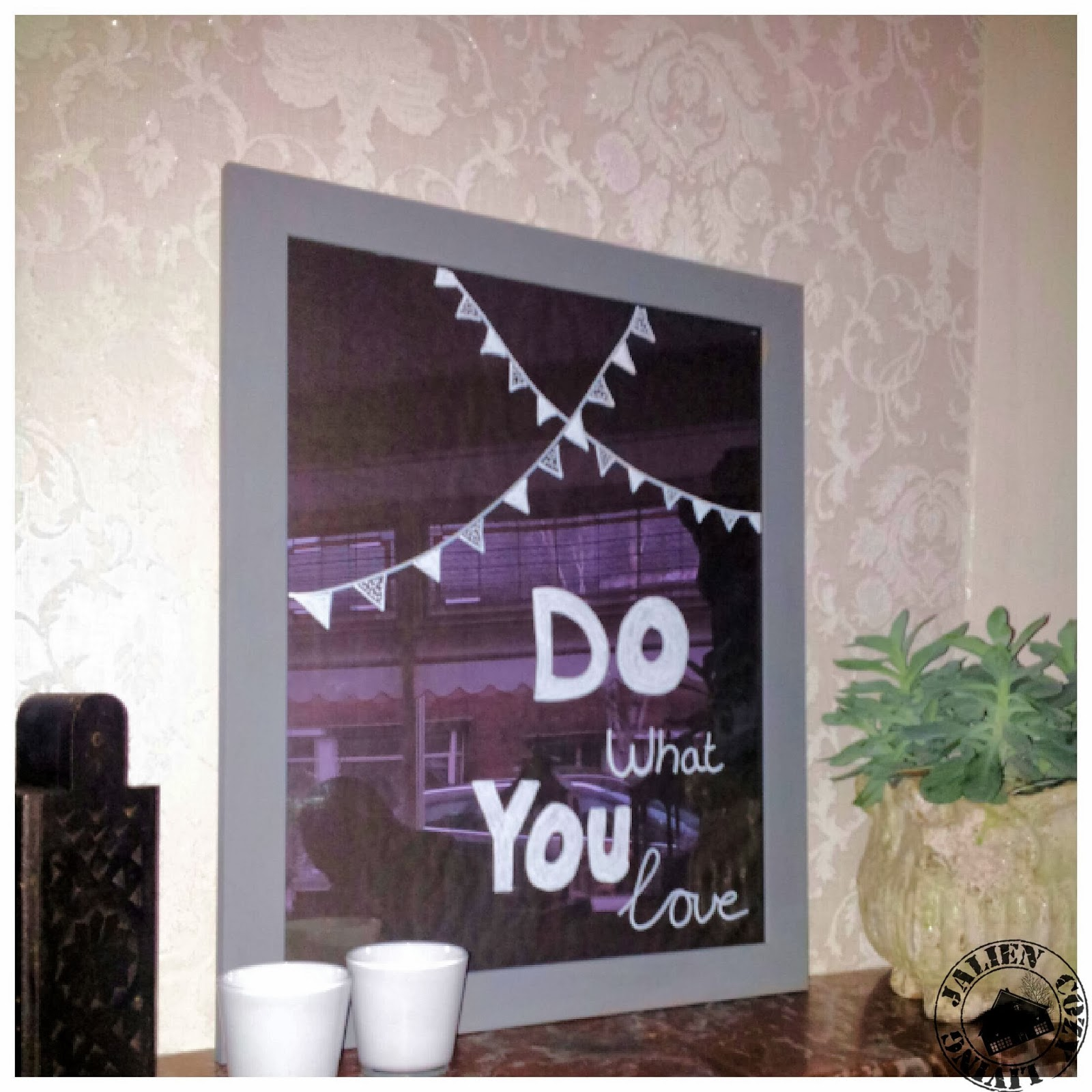 doodle bord / DIY reusable doodle pictureframe * Jalien Cozy Living *
