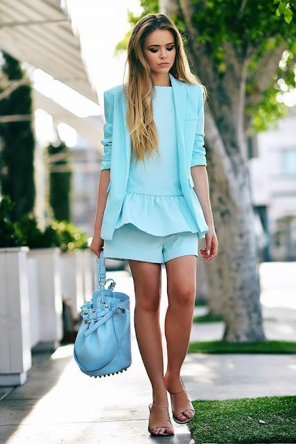 Look tons pastel tendencia primavera verão 2015 vestido azul