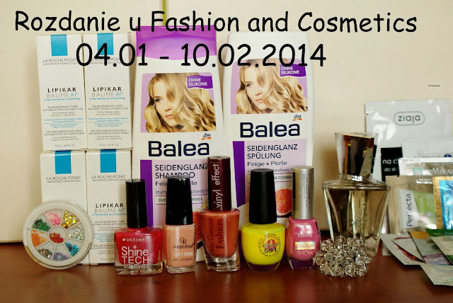 Rozdanie u fashion and cosmetics