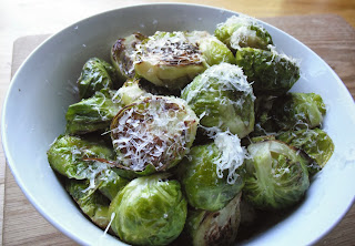 Roasted Parmesan Brussel Sprouts from  Top Ate on Your Plate