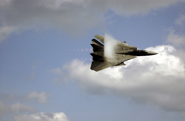 "F-14D ""Tomcat"" with shockwave."