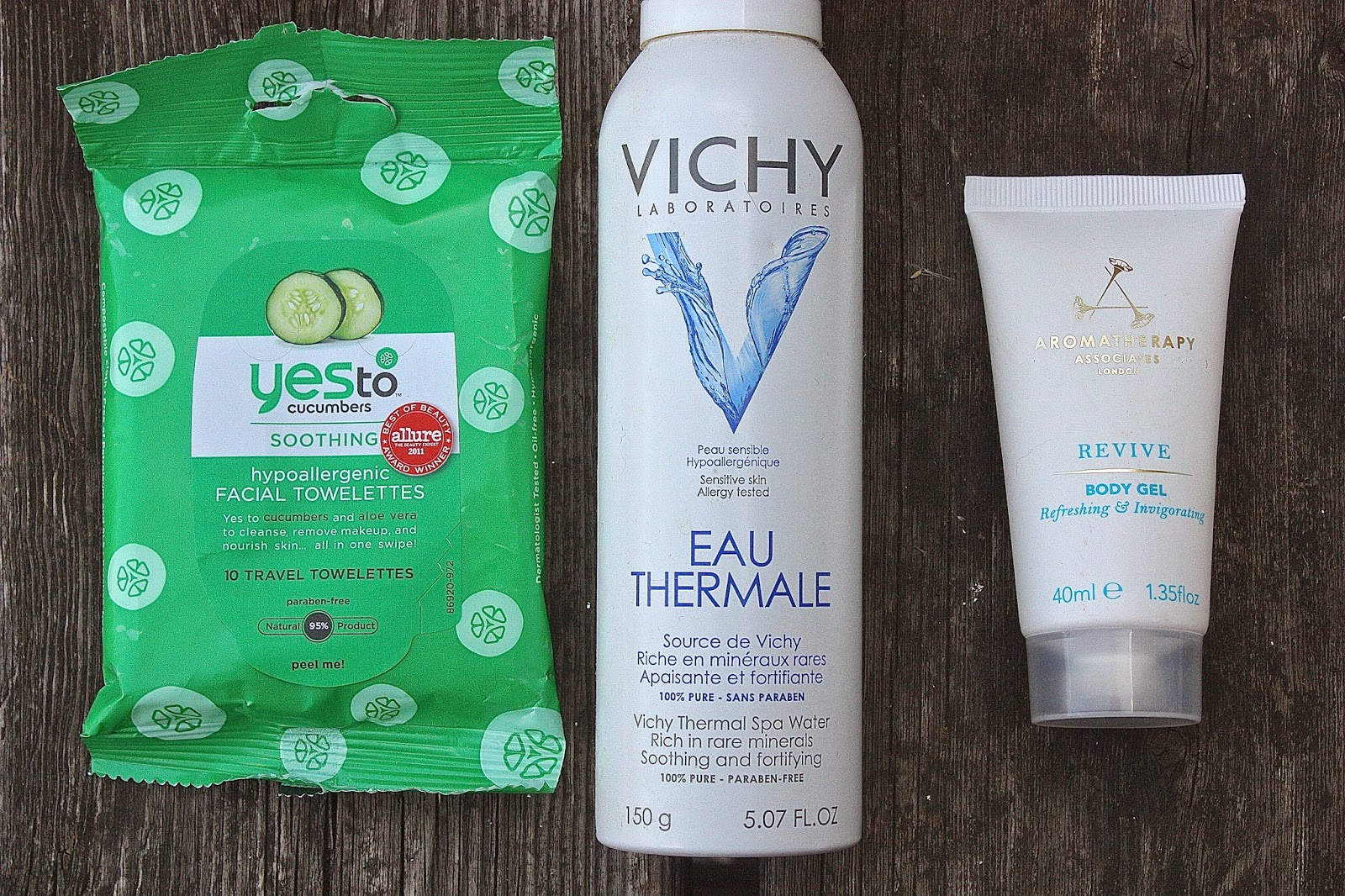 Products that prevent you from sweating. Products that cool you down.