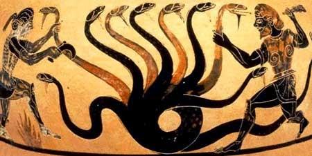 Hercules combatiendo a la Hidra de Lerna