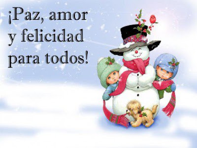 Paz amor y felicidad para todos