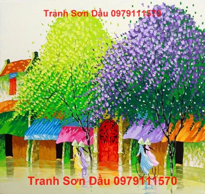 Tranh Son Dau Pho Hoa, Tranh Pho Hoa, Tranh Son Dau, Tranh Sơn Dầu
