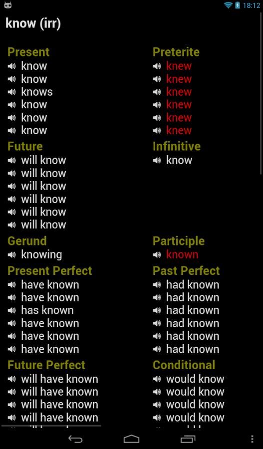 unnamed Verbos en Inglés Ideal para estudiantes de inglés de todos los niveles  gratis en tu android