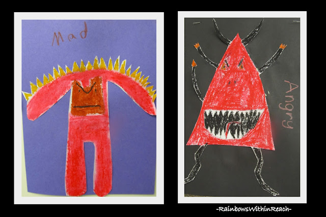 "photo of: Third Grade ""Monster"" Drawings via RainbowsWIthinReach"