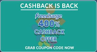 Freecharge Rs. 40 Cashback on Rs. 10