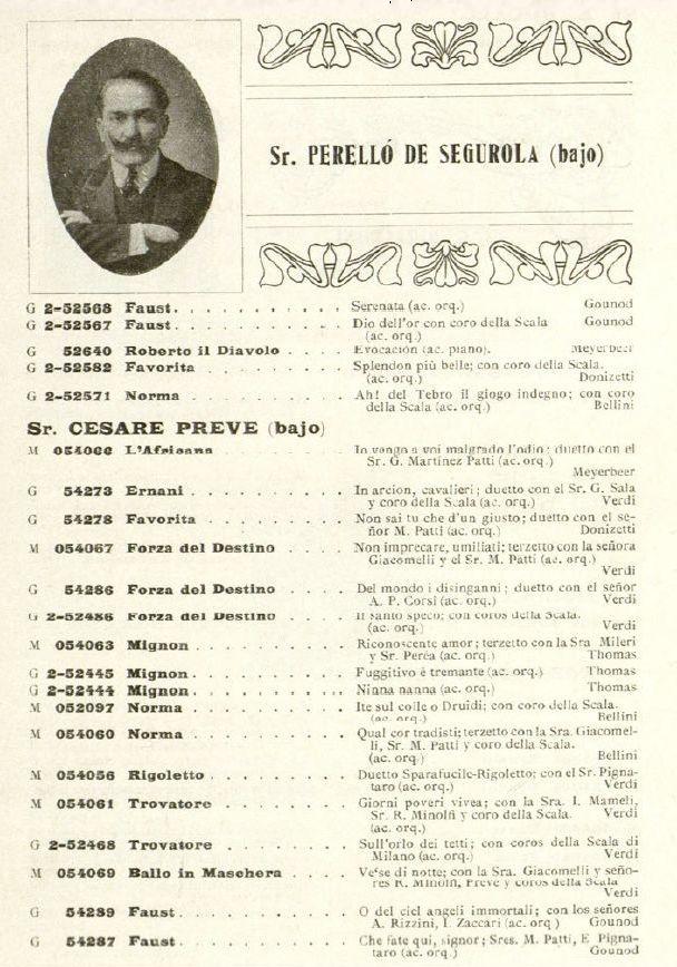 SPANISH BASS ANDRÉS PERELLÓ DE SEGUROLA (1874-1953) CD