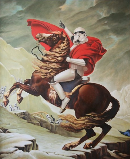 The star wars culture napoleon stormtrooper for Napoleon horse painting