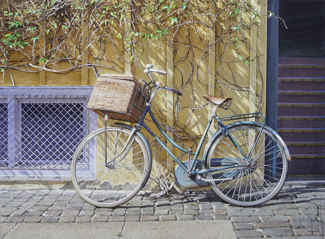 06-Copenhagen-Thierry-Duval-Snippets-of Real-Life-in Watercolor-Paintings-www-designstack-co