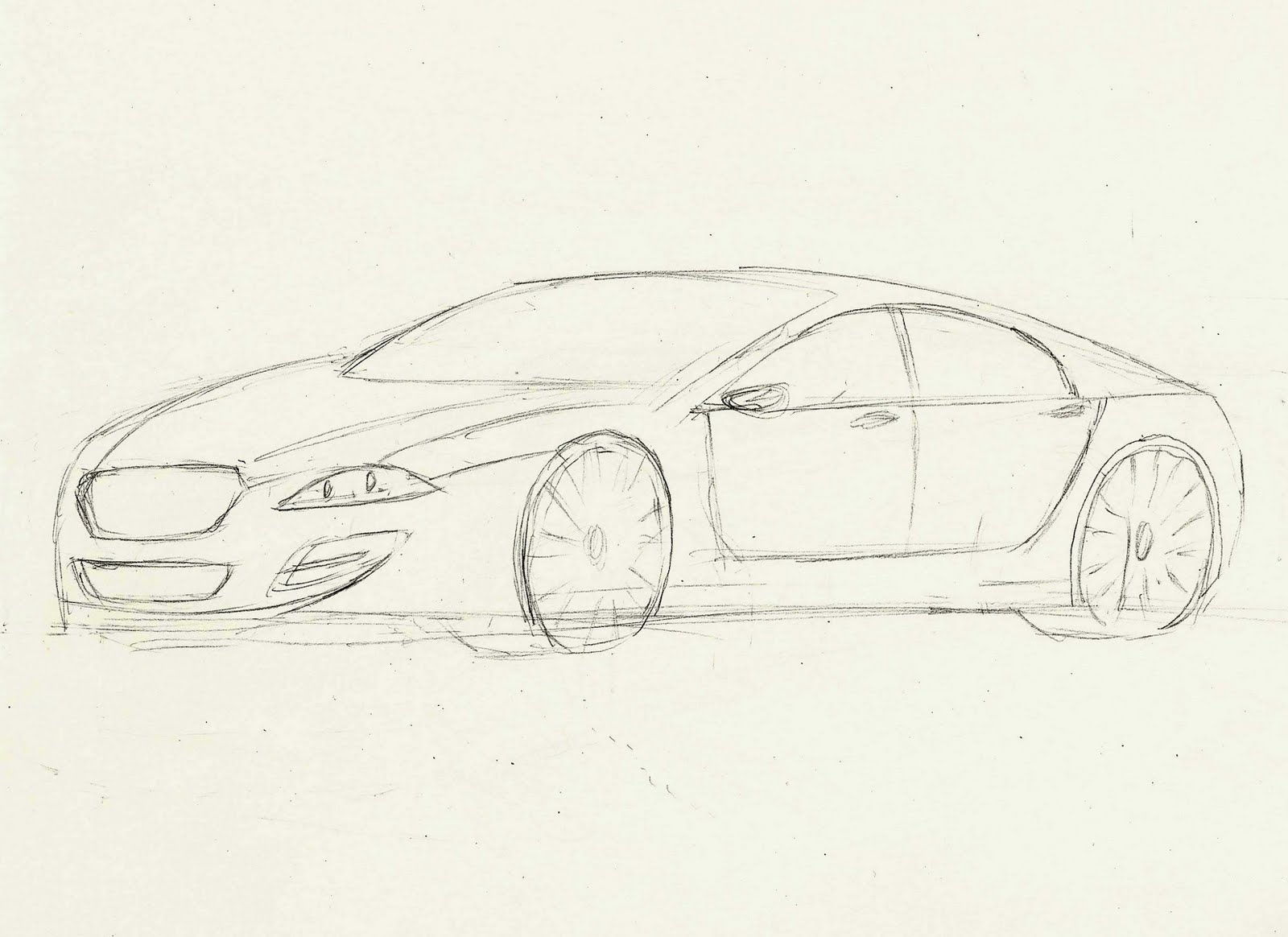Cambrera Car Design  Jaguar XF Inspired DrawingJaguar Car Drawing