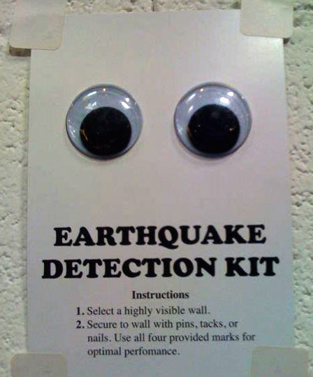 Funny Alaska Earthquake Detection Kit