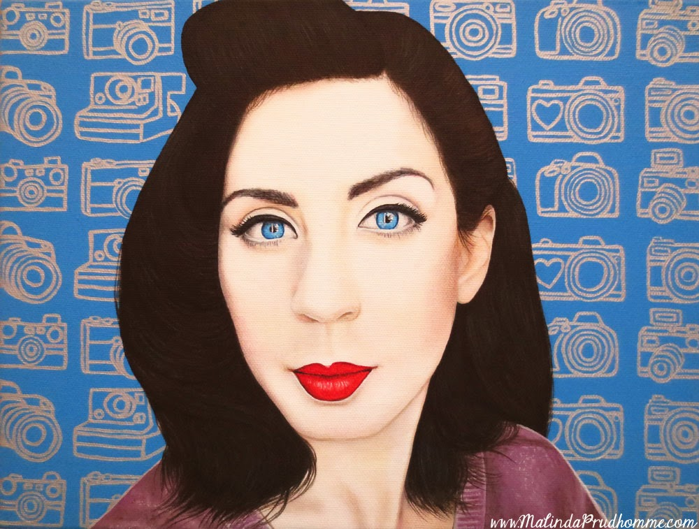 lisa lambertus, red lips, black hair, pale skin, beauty art, true beauty, malinda prudhomme, portrait art, toronto portrait artist, realism, portrait painting, canadian artist, realistic portraiture