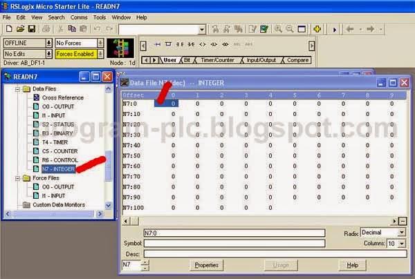 N7 Files Location of Allen-Bradley MicroLogix 1000