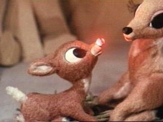 Young Rudolph and his mother in Rudolph the Red-Nosed Reindeer 1964 animatedfilmreviews.blogspot.com