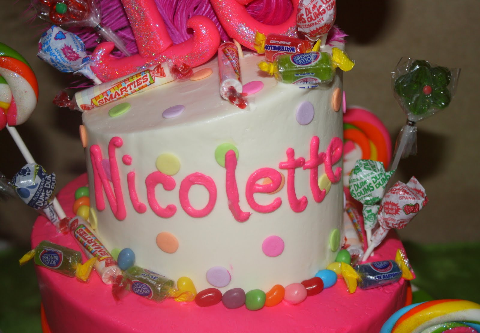 Sweet Sixteen Candy Themes Sweet 16 candy cake