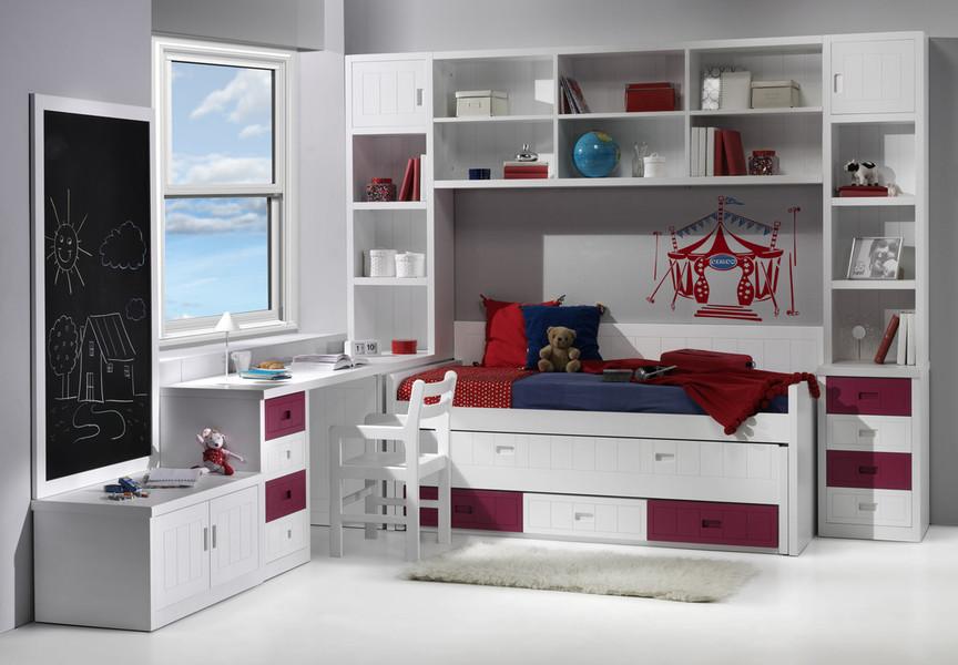 Las literas abatibles son la mejor opci n cuando for Habitaciones juveniles con cama grande