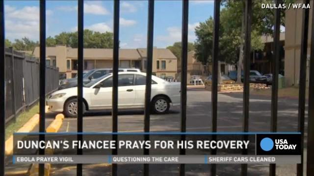Ebola patient's fiancee: Praying to God he gets better