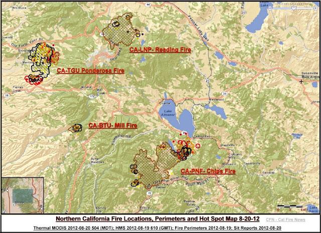 CFN - CALIFORNIA FIRE NEWS - CAL FIRE NEWS : CA-PNF- Chips ... U Spot Location