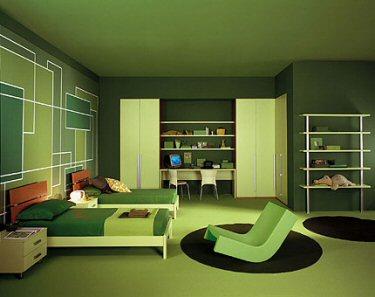 Dormitorios para adolescentes color verde ideas para decorar dise ar y mejorar tu casa - Colores verdes para habitaciones ...