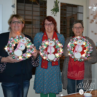 atelier077 kerstkrans workshop