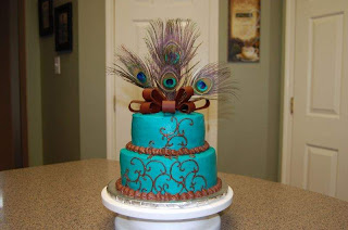 Peacock Wedding Cake Topper Designs