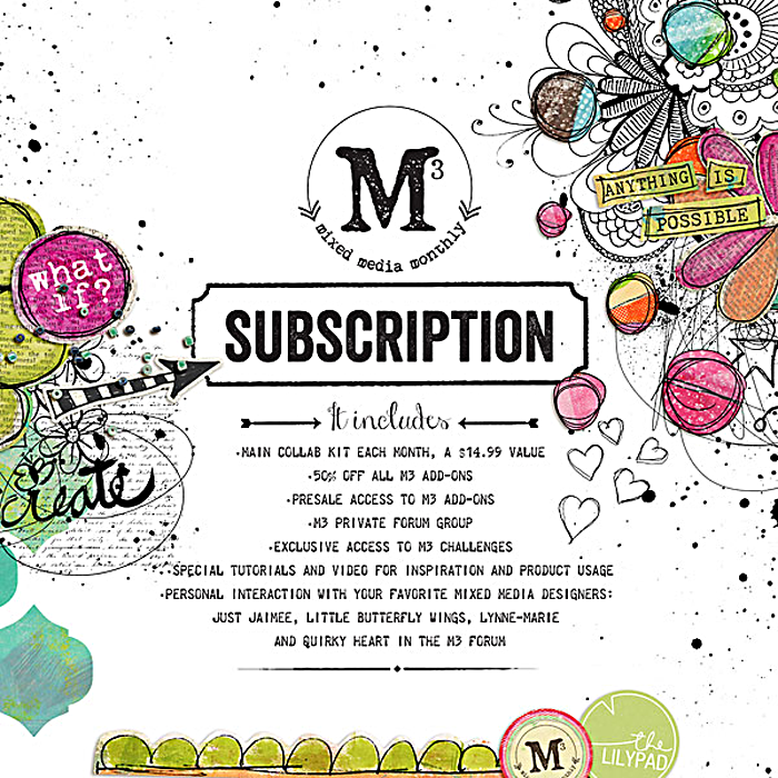 The Lilypad | Mixed Media Monthly Subscription promo