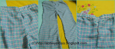 instructions for sewing palazzo pants