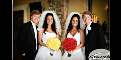 Lima Pernikahan Orang Kembar Paling Unik di Dunia
