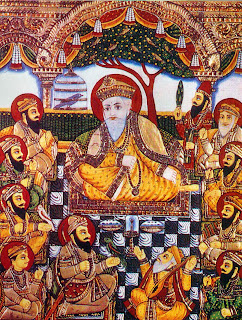 Sikh Gurus with Bhai Bala and Bhai Mardana