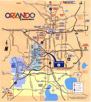 Orlando map for tourists