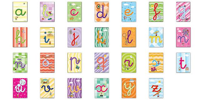 Laminas decoupage abecedarios infantiles for Laminas infantiles para imprimir