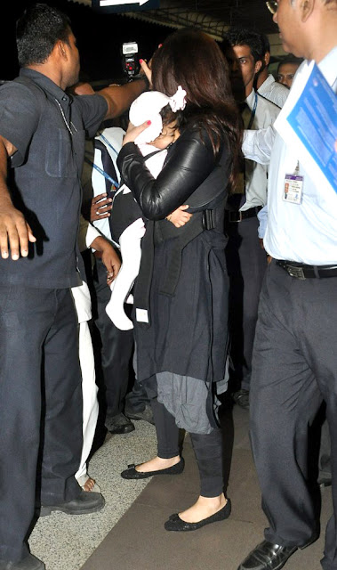 Abhishek and Ashwarya's daughter Aaradhya First Exclusive Photos