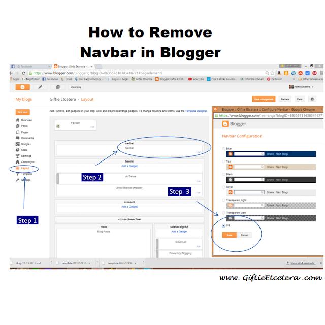 removing blogger navbar; how to remove navbar