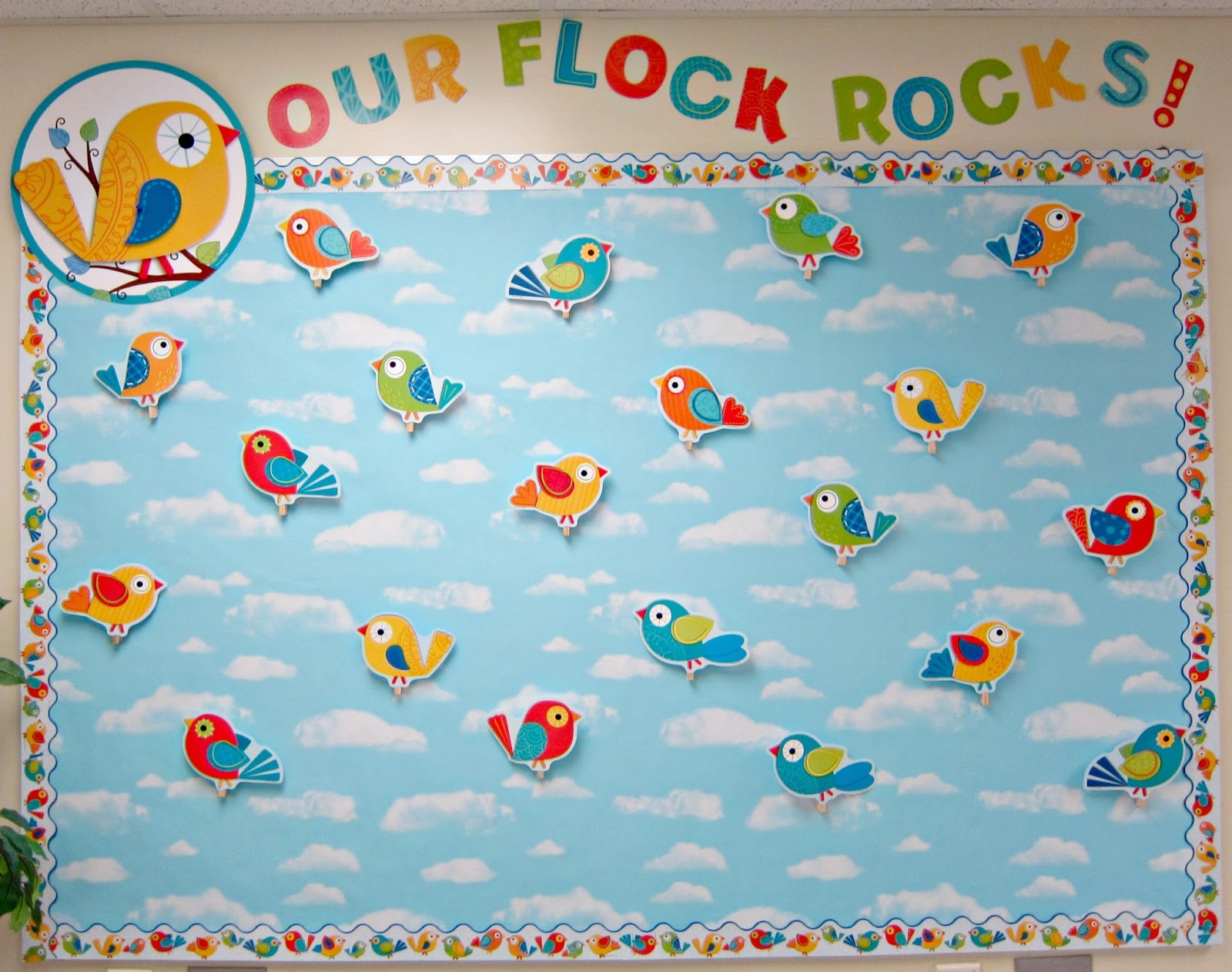 Classroom Ideas With Birds ~ Boho birds bulletin boards sunny days in second grade