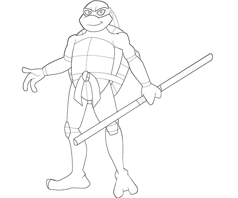 Donatello Free Coloring Pages