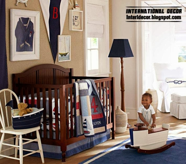baby room themes, marine style and theme for children room