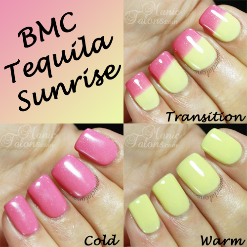 BMC Tequila Sunrise Swatches